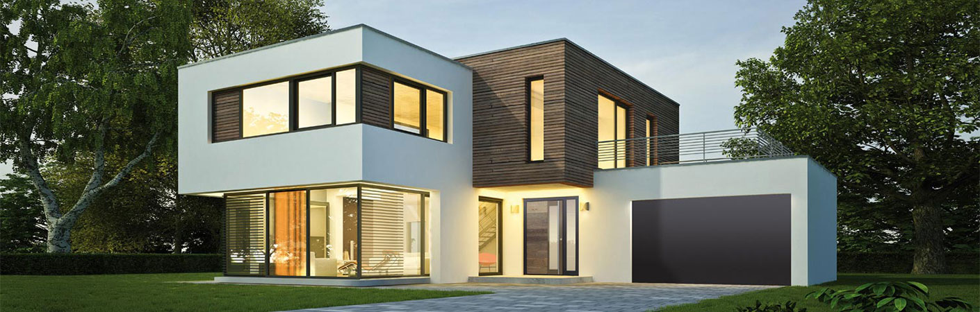 TOPIC Altholz Haustüre Anwendung Einbau modernes Haus