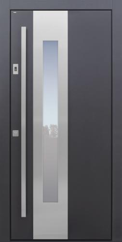 Haustür modern, anthrazit, TOPICcore, Edelstahl, Sicherheitstür, passivhaustauglich, besser als Alu, Glas
