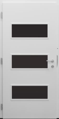 Haustür modern, weiß, Topiccore, Sicherheitstür, besser als Alu, Glas