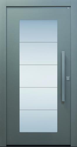 Haustür modern, grau, TOPICcore, Sicherheitstür, besser als alu, Glas