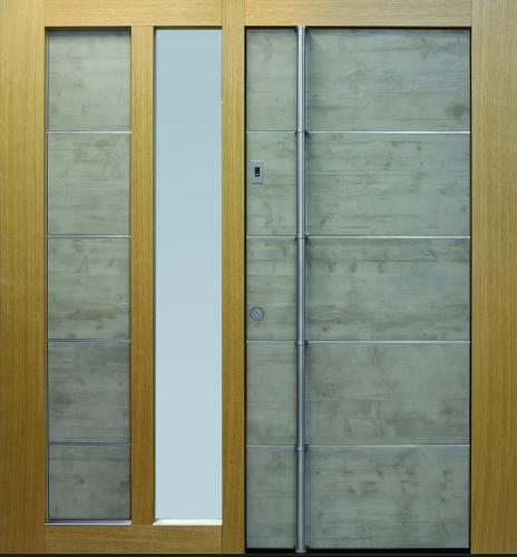 Haustür front door Current Concrete T3 mit Seitenteil ST-G100 und Stockverbreiterung www.topic.at