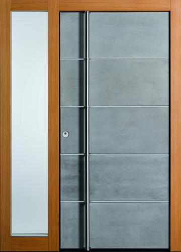 Haustür front door Current Concrete T3 mit Seitenteil ST-G100 www.topic.at