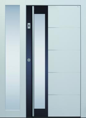 Haustüren, grau, modern,  TOPICcore, Holz, Edelstahl, Sicherheitstür, passivhaustauglich, besser als alu, Glas