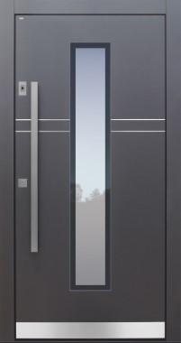 Haustür modern, anthrazit, TOPICcore, Fingerprint, Sicherheitstür, passivhaustauglich, besser als Alu, Glas