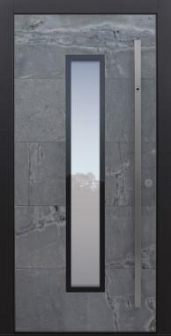 Haustür modern, Himalayastein, Sicherheitstür, passivhaustauglich, besser als alu, Glas