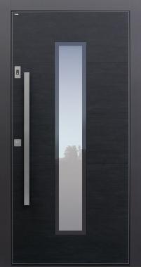 Haustüren modern, Keramik, Koshi nero, dunkelgrau, Sicherheitstür, passivhaustauglich, TOPICcore, besser als Alu, Glas, Fingerprint