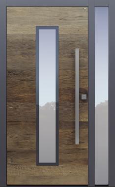 Haustür Altholz Eiche mit Seitenteil B1 Modell A483-T3