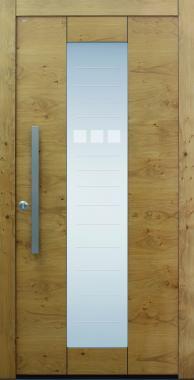 Haustür modern, Holz, Sicherheitstür, besser als alu, Glas