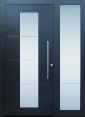 Haustür modern, TOPICcore, Edelstahl, Sicherheitstür, besser als alu, Seitenteil, Glas