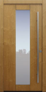 Haustür modern, Eiche, Seitenteil, Sicherheitstür, passivhaustauglich, besser als alu, Glas