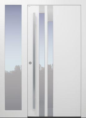 Haustür modern, TOPICcore, weiß, Sicherheitstür, passivhaustauglich, besser als Alu, Glas, Seitenteil