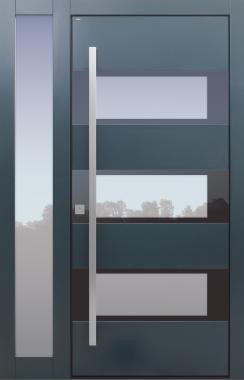 Haustüren, modern, grau Topiccore, Seitenteil, Sicherheitstür, passivhaustauglich, besser als alu, Glas