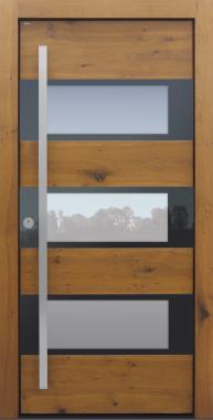 Haustür modern, Holz, Eiche alt, Sicherheitstür, passivhaustauglich, besser als alu, Glas