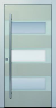 Haustür, hellgrau, beige, Keramik, Sicherheitstür, passivhaustauglich, besser als alu, Glas, Lichtausschnitt