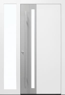 Haustüren, modern, grau,  TOPICcore, Edelstahl, Sicherheitstür, niedrigenrgiehaustauglich, besser als alu, Glas