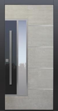 Haustür modern, TOPICcore, Beton, hellgrau, Sicherheitstür, passivhaustauglich, Glas,  besser als Alu