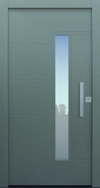 Haustür modern, TOPICcore, grau, Sicherheitstür, passivhaustauglich, besser als Alu