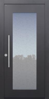 Haustür anthrazit mit Glas Uadi Modell B34-T