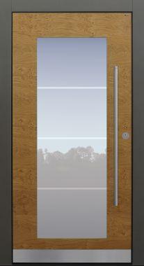 Haustür modern, Holz, Eiche astig, Sicherheitstür, passivhaustauglich, besser als Alu, Glas