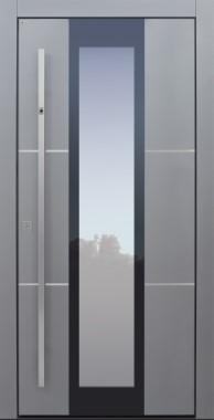 Haustür modern, grau, silber, Topiccore, Sicherheitstür, passivhaustauglich, besser als alu, Glas