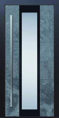 Haustür modern, anthrazit, Echtstein, Stein, Himalayastein, Sicherheitstür, passivhaustauglich, TOPICcore, besser als Alu, Glas