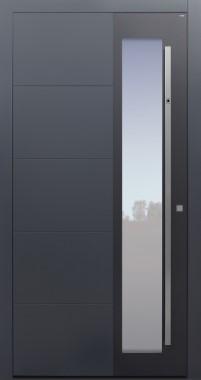Haustür anthrazit mit Option 2. Farbe und Designpaket mit Fingerprint Modell B37-T1