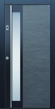 Haustür dunkelgrau grau anthrazit Keramik Sicherheitstür passivhaustauglich Glas Lichtausschnitt