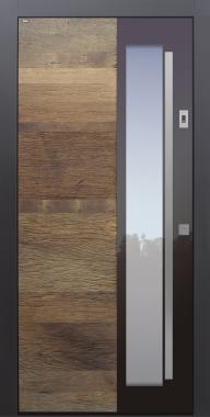Haustüren modern, Holz, Altholz, Eiche, über 100 Jahre, Sicherheitstür, passivhaustauglich, TOPICcore, besser als Alu, Glas