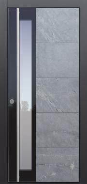 Haustür modern, Stein, Himalayastein, TOPICcore, Seitenteil, Sicherheitstür, passivhaustauglich, besser als Alu, Glas