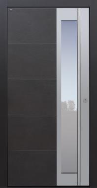 Haustüren modern, Keramik, Keramik anthrazit, dunkelgrau, Sicherheitstür, passivhaustauglich, TOPICcore, besser als Alu, Glas