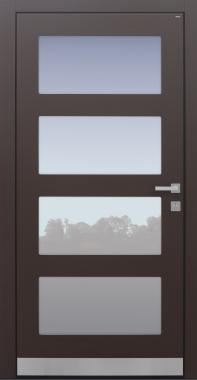Haustür modern, braun, Topiccore, Sicherheitstür, passivhaustauglich, besser als alu, Glas