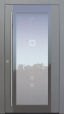 Haustür modern, grau, TOPICcore, Sicherheitstür, passivhaustauglich, besser als Alu, Glas, Glasmotiv