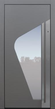 Haustür modern, TOPICcore, grau, Sicherheitstür, passivhaustauglich, besser als Alu, Glas, Fingerprint