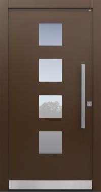 Haustür modern, braun, TOPICcore, Sicherheitstür, besser als Alu, Glas