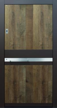 Haustür modern anthrazit, Holz, Altholz, Eiche, über 300 Jahre, Sicherheitstür, passivhaustauglich, TOPICcore, besser als alu, Edelstahl
