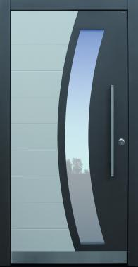 Haustür modern, TOPICcore, RAL, weiß, Sicherheitstür, passivhaustauglich, besser als Alu, Glas