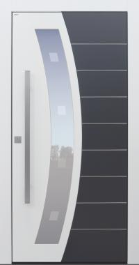 Haustür modern, weiß, anthrazit, Topiccore, Sicherheitstür, passivhaustauglich, besser als alu, Glas