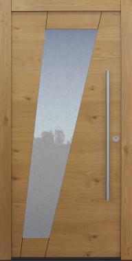 Haustür Eiche astig mit Glas Uadi weiß Modell B67-T