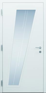 Haustür modern, weiß, Innenansicht, TOPICcore, Sicherheitstür, passivhaustauglich, besser als Alu, Glas