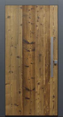 Haustür modern, Holz, Fichte, Altholz, Altholz Fichte, Sicherheitstür, passivhaustauglich, besser als Alu