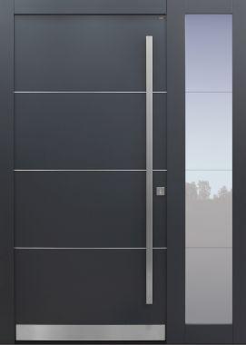 Haustür modern, anthrazit, Seitenteil, Sicherheitstür, besser als alu