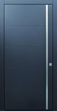 Haustür modern, anthrazit, TOPICcore, Sicherheitstür, passivhaustauglich, besser als Alu