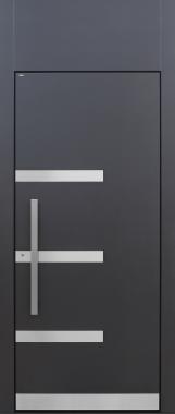 Haustür modern, XL, anthrazit, TOPICcore, Edelstahl, Sicherheitstür, passivhaustauglich, besser als Alu