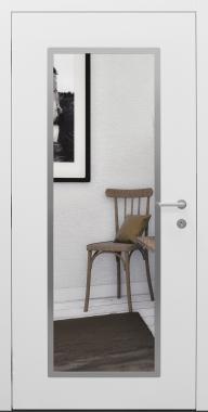 Haustür weiß Innenansicht mit Spiegel Modell B9-T2