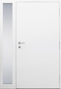 Haustür weiß Innenansicht mit Seitenteil B11 Modell B9-T2