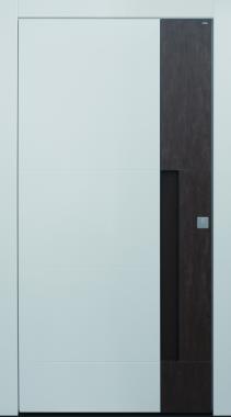 Haustür modern, weiß, braun, Keramik, Sicherheitstür, passivhaustauglich, besser als Alu