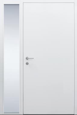 Haustür weiß Innenansicht mit Seitenteil B1 Modell B9-T3