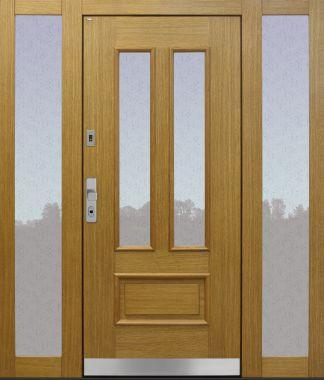 Haustür Landhaus klassisch rustikal, Eiche, Holz, Seitenteil, Sicherheitstür, passivhaustauglich, besser als alu, Glas