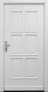 Haustür Landhaus klassisch rustikal, weiß, Topiccore, Sicherheitstür, passivhaustauglich, besser als alu