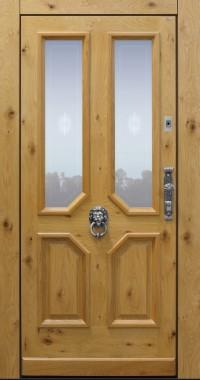 Haustür, Landhaus klassisch rustikal, Eiche, Holz, Sicherheitstür, passivhaustauglich, besser als alu, Glas